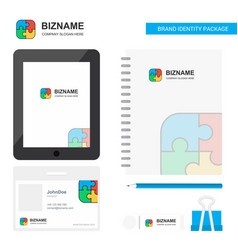 Puzzle game business logo tab app diary pvc vector