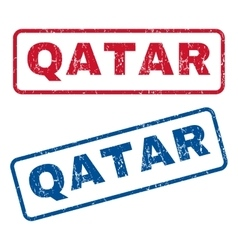 Qatar Rubber Stamps vector