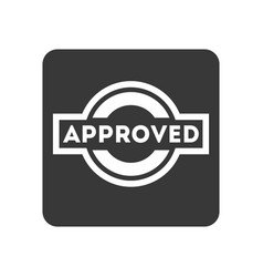 Quality control icon with approved text vector