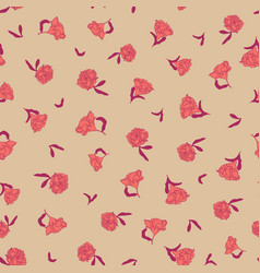 seamless small scale ditsy floral texture vector image