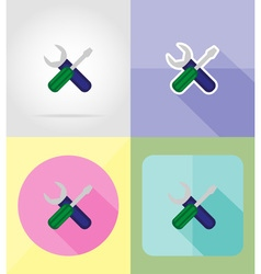 service flat icons 15 vector image