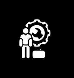 service man icon flat design vector image