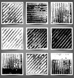 Set of black and white grunge backgrounds vector
