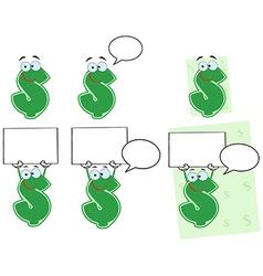 Set of dollar signs vector