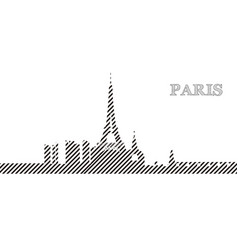 skyline of paris vector image
