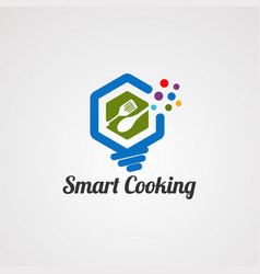 smart cooking logo icon element and template vector image