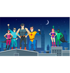 Superheroes team composition vector