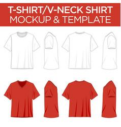T-shirt and v-neck shirts - template mockup vector