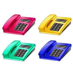 Telephones vector image