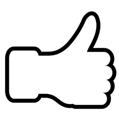 The thumb lifted upwards vector image