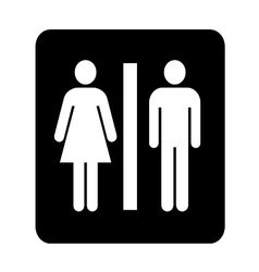 Toilets Sign vector image