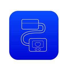 Tonometer icon blue vector