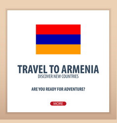 travel to armenia discover and explore new vector image