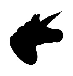 Unicorn icon fantasy world of the unicorn black vector