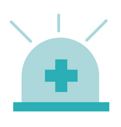 Urgency siren health care equipment medical flat vector