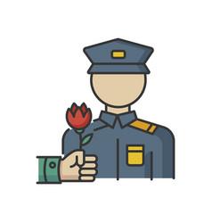 War veterans charity rgb color icon vector