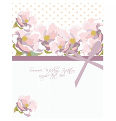Watercolor flowers Summer card vector