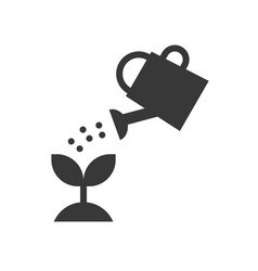 watering can watering plant icon solid style vector image