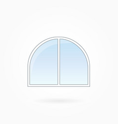 Window frame with rounded corners on eps 10 vector