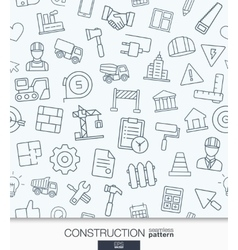 Construction wallpaper Black and white build vector image