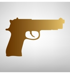Gun sign Flat style icon vector image
