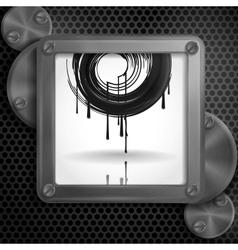 Metallic Frame With Screws vector image