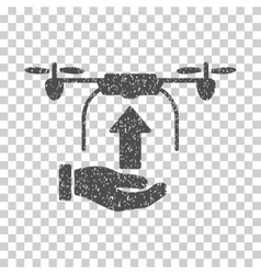 Send Drone Hand Grainy Texture Icon vector image