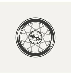 wheel Black and white style vector image