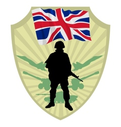 Army of United Kingdom vector image vector image