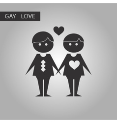 black and white style icon homosexual lovers vector image vector image