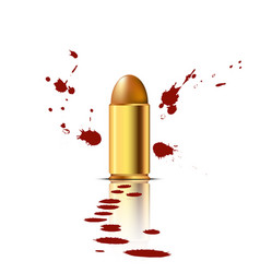bullet with blood background vector image