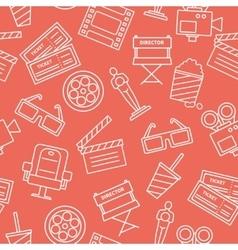 Line Cinema Pattern vector image vector image