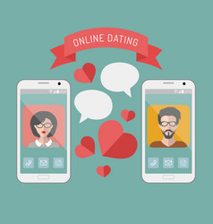 online dating man and woman vector image vector image