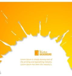Orange drop over white vector image