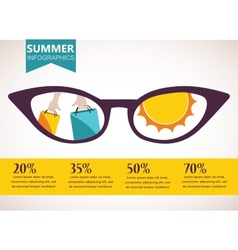 summer sale infographics vector image vector image