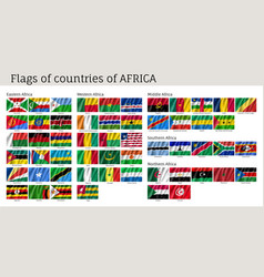 africa flags big set vector image