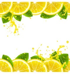banner with fresh lemons vector image