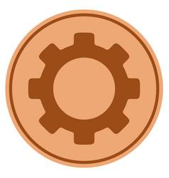 gear bronze coin vector image vector image
