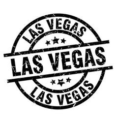 Las vegas black round grunge stamp vector