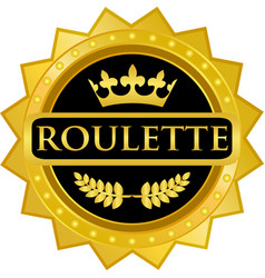 roulette gold icon vector image vector image