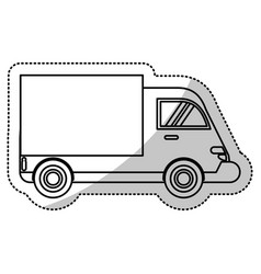 truck delivery transport image line vector image