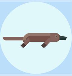 with cartoon platypus icon vector image
