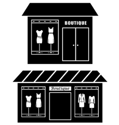 Black icon of boutique vector image vector image