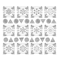 boho handmade set of elements vector image