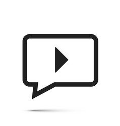 chat video frame flat icon vector image vector image