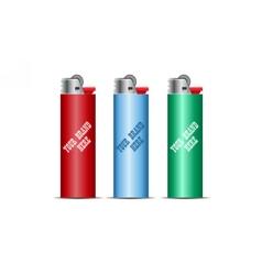Digital cigarette lighter mockup vector image