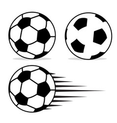 football ball flat design set with isolated on vector image