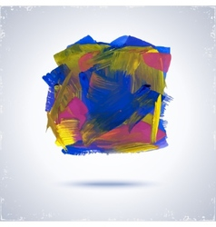 Grunge paint square vector image vector image