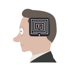 head labyrinth vector image