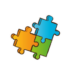 puzzle piece business image vector image vector image
